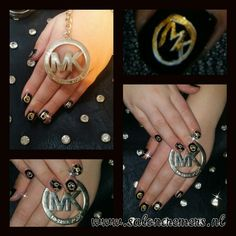 Micheal kors nail art handpainted