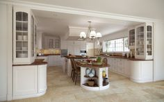 It is little tip to form kitchen comfy for large family. Indeed, there ar still several different factors influencing the nuance of comfortable kitchen for large family like color. for large kitchen, it's way more versatile to settle on any color. Meanwhile, for small kitchen, the counseled kitchen cabinets design ideas for large family ar painting with bright color.