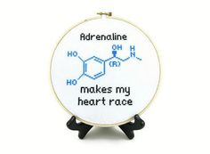 (10) Name: 'Embroidery : Adrenaline Molecule Cross Stitch Pattern