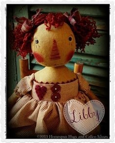 Primitive Raggedy by Homespun Hugs and Calico Kisses Primitives