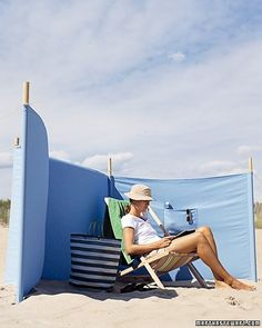 Portable Windscreen - Don't let a stiff breeze chase you off the beach. Bring along a windscreen to protect your party from gusts and blowing sand, as well as to enjoy a little surfside privacy and shade.