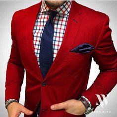 Check out this Trendy casual mens fashion 2845473875 Mens Fashion Blazer, Suit Fashion, Fashion Outfits, Fashion Tips, Fashion Design, Red Blazer Mens, Fashion Photo, Trendy Outfits, Latest Fashion