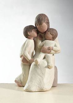 Willow Tree Angels Quietly Figurine Mother and Children   eBay