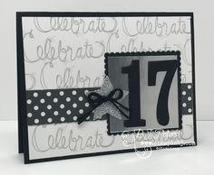 Perfect Graduation card!   Large Letters framelits + Love Sparkles stamp set from Stampin' Up! #stampinbj.com