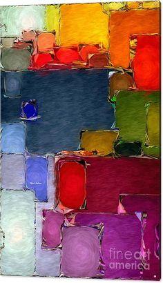 Rafael Salazar Acrylic Print featuring the digital art Abstract 005 by Rafael Salazar