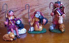 Polymer Clay Nativity - Shepherds