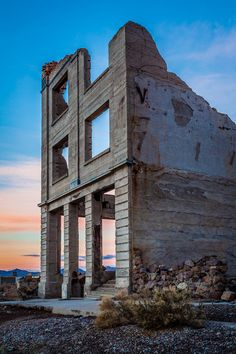 Bank Facade, Rhyilote, Ghost Town, Death Valley National Park, California; photo by .Greg Clure