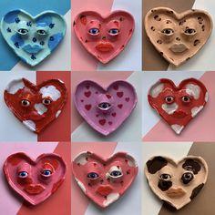 Heart trinket dishes
