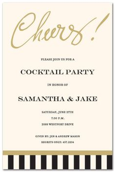 Bridal Shower Invitations, Just Say Cheers!, 17549