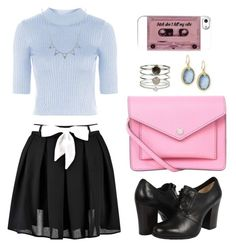 """""""Untitled #208"""" by kimberley-hampton ❤ liked on Polyvore featuring moda, Boohoo, Topshop, Frye, Marc by Marc Jacobs, Accessorize e Armenta"""