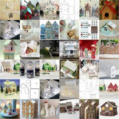 Over 100 house templates, tutorials, or inspiration...  All the links, with lots of thumbnail photos, are here on my blog: melstampz.blogspot.com/2008/09/wee-houses-35-templates-tu...  Happy Crafting! :o) Mel