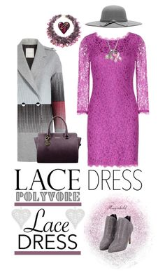 """Pretty Lace Dress"" by ragnh-mjos ❤ liked on Polyvore featuring moda, Diane Von Furstenberg, Marco de Vincenzo, AeraVida e Alexis Bittar"
