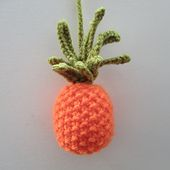 Free knitting pattern for tiny pineapple by Amanda Berry