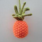 Make It: Knitted Pineapple - Free Knitting Pattern #knitting #amigurumi #ravelry