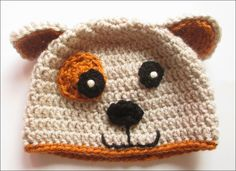CUTE STUFF INSIDE - Crochet Puppy Hat - Pattern from Repeat Crafter Me - Vanna's Choice