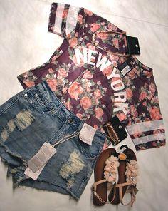 a7a1fa255ef53 Primark Haul New York Shirt - Shorts 13 € - Sandals Necklace Bracelet