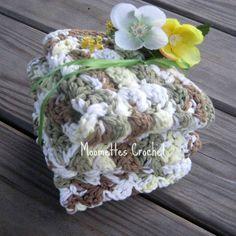 Moss Green Wash Cloths Kitchen Dish Cloths Set of 3, by Moomettes Crochet