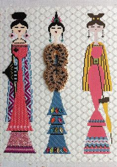 Beads instead of turkey work from It's not your Grandmother's Needlepoint…
