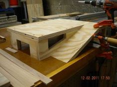 Getting pro about it... Wooden garage for toy cars. #carpentry #DIY