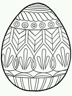 Beautiful Easter Egg Pattern coloring page for kids coloring