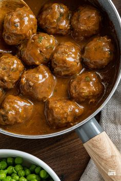 Lamb Meatballs with Mint Gravy - Tender Lamb Meatballs with grated Courgette in a delicious rich mint gravy. Perfect comfort food for the whole family to enjoy. Slimming World and Weight Watchers friendly Slimming Eats, Slimming World Recipes, Lamb Meatballs, Ground Lamb, Dairy Free Recipes, Gluten Free, Recipe Please, Daily Meals, Weight Watchers Meals
