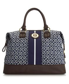 Tommy Hilfiger Handbag, Signature Jacquard Logo Bowler - Sale & Clearance - Handbags & Accessories - Macy's