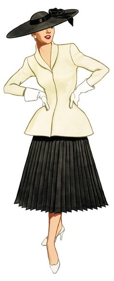 Free Graphic of the Day  Fashion Illustration from the 40's