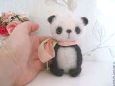 Sweet needle felted Panda by Galena from Moscow