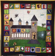 Harry Potter Quilt - I like the layout!