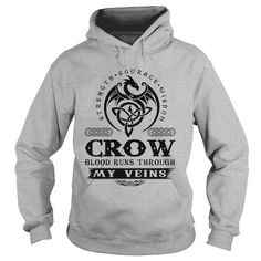 CROW T Shirts, Hoodies, Sweatshirts. CHECK PRICE ==► https://www.sunfrog.com/Names/CROW-121274533-Sports-Grey-Hoodie.html?41382