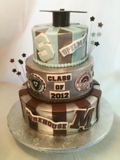 Spelman College and Morehouse College Graduation Cake made for the Class of 2012. Cake created by Made Fresh Daily of New York,