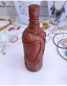 Μοναδικό, διακοσμητικό μπουκάλι φτιαγμένο στο χέρι με τεχνική σκουριάς. Ιδανικό… Perfume Bottles, Jar, Home Decor, Decoration Home, Room Decor, Perfume Bottle, Home Interior Design, Jars, Glass