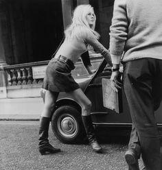 theswingingsixties:    Brigitte Bardot in a mini, with a mini.