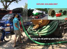 Thông tắc bể phốt tại Trần Cung