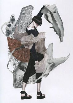 Fashion collaboration project with photographer Yin Chao and Editor Ujin Zhao for Chinese fashion magazine Vision. These collages were inspired by the work of the late Lee Alexander McQueen for a special edition issue about the talented fashion designer. Ashkan Honarvar has incorporated various aspects of the designer's work into this series, such as McQueen's fascination with animals and motion, and the apparent contradiction between strength and fragility.