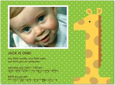 1st birthday- like the wording, not the giraffe.