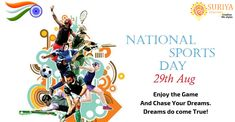 #National_Sports_Day #Happy_National_Sports_Day #World_Sports_Day #29_August_Sports_Day #Major_dhyan_chand_National_Sports_Day #National_Sports_Day_2019 Dreams Do Come True, Chase Your Dreams, Dhyan Chand, National Sports Day, Dreaming Of You, Happy, Life