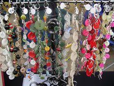 BuutonShop.ca - Button Bracelet Display by Kaleidoscope Jewelry, via Flickr