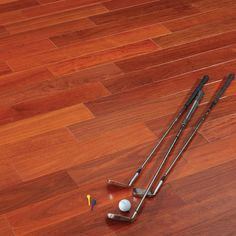 Santos Mahogany Natural 9/16 x 5 x 1-4' Select and Better 3.2mm Wear Layer **DISCONTINUED**- Engineered Prefinished Flooring