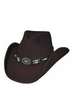 Bullhide Women s Jewel of the West Chocolate Wool Cowgirl Hat Resistol Hats cdcbdd5216f7