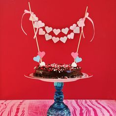 14 Days of Love- DIY Sweetheart Cake Bunting and Picks