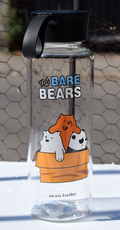 Oh, para las amantes de los Osos Escandalosos o We Bare Bears!!! #OsosEscandalosos #WeBareBears We Bare Bears Wallpapers, Cute Water Bottles, Unicorn Pictures, Diy Back To School, We Bear, Cool Glasses, Bear Wallpaper, Diy Skin Care, School Supplies