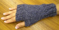 This is an easy to make fingerless mitt pattern suitable for advanced beginners.