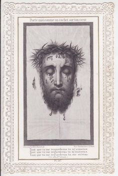 81 - ANTIQUE HOLY CARD LACE