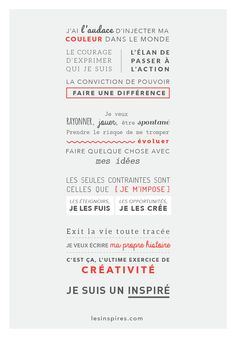 Manifeste inspiré. #missioninspirée