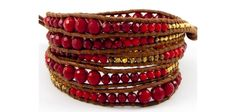 beautiful Chan Luu red coral wrap bracelet