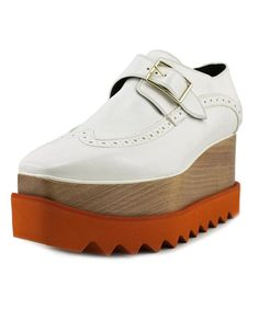 STELLA MCCARTNEY Stella Mccartney Scarpa Dana Women Open Toe Patent Leather White Platform Heel'. #stellamccartney #shoes #pumps & high heels