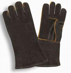 HandFortress Black Shoulder Leather Welding Glove