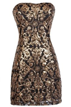Lily Boutique Bold As Brass Sequin Party Dress, $44 Black and Gold Sequin Party Dress, Black and Gold Cocktail Dress, Cute New Years Dress, New Years Party Dress www.lilyboutique.com
