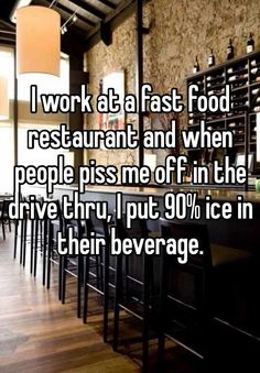 Whisper App. Confessions from fast food workers.